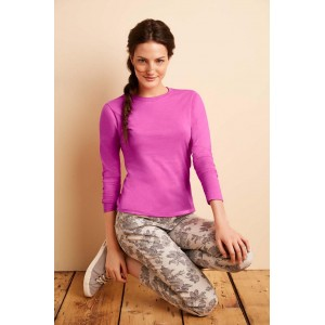 GILDAN 64400L SOFTSTYLE LADIES LONG SLEEVE T-SHIRT