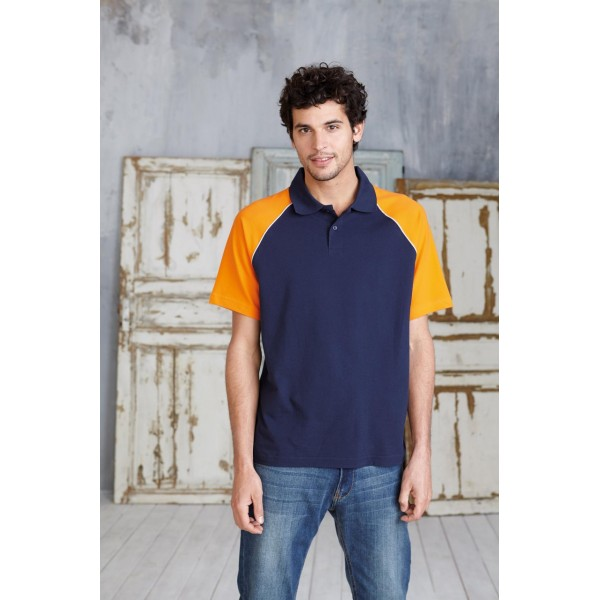 KARIBAN 226 CONTRAST BASE BALL POLO SHIRT